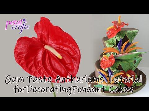 Making a Gumpaste Anthurium Lily by Petal Crafts