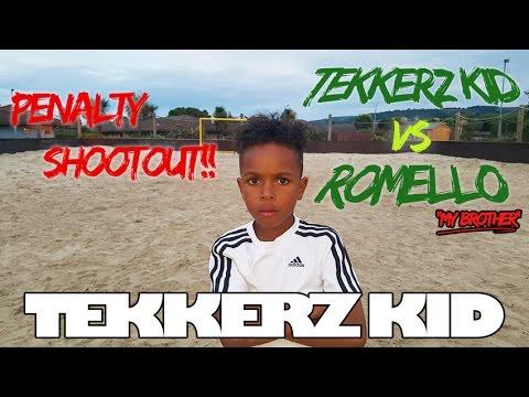 Beach Penalty Shootout Vs Bro! | Tekkerz Kid