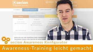 IT-Security Awareness Training mit dem secion Awareness Konfigurator