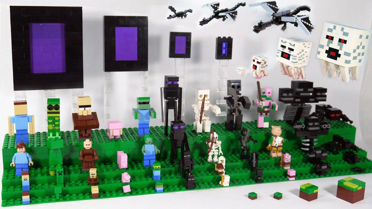 LEGO Minecraft Mobs | Custom LEGO Minecraft Display - YouTube