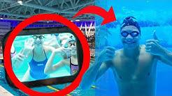 Състезание по плуване в плуван басейн Парк Арена Бургас ( много готин басейн)
