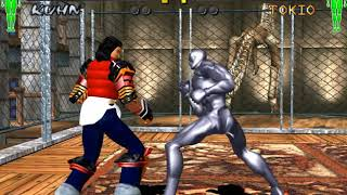#969 Fighting Vipers 2 (ARC) Bosses (2/3): Kuhn gameplay.