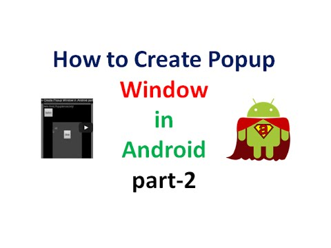 How To Create Popup Window In Android Part2 | ShoutCafe.com