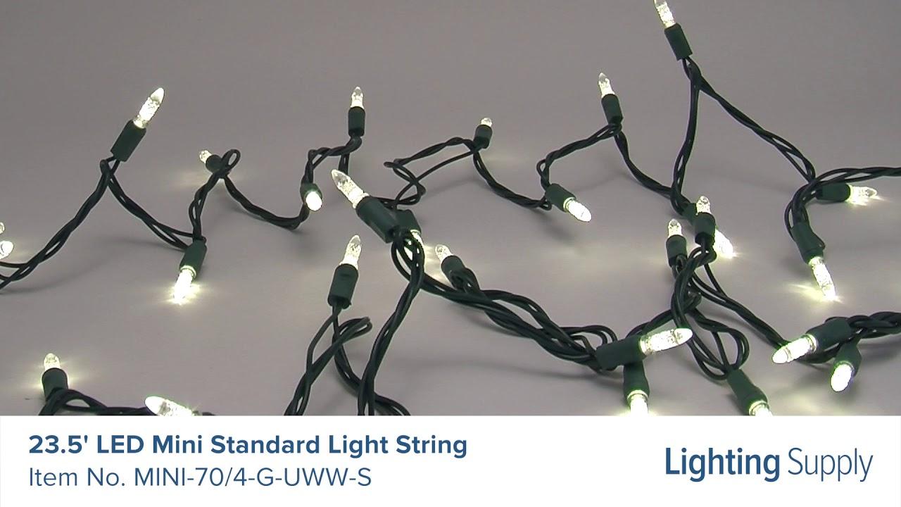 American Lighting 23 5 Led Mini Standard Light String 70 4 G Uww S Supply