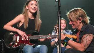 Keith Urban bringing Hailey Benedict up on stage - Edmonton - Sept 16/2016