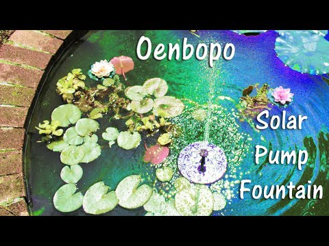 🌝Oenbopo SOLAR POWER PUMP FOUNTAIN💥 Floating Bird Bath Pond Product Review 👈