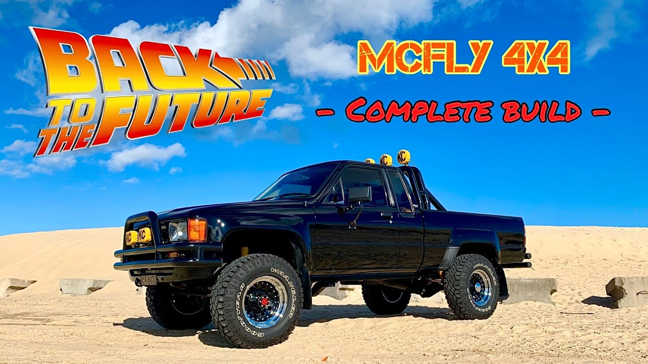 Back To The Future Marty McFly Truck - 1985 Toyota 4x4 Hilux Pickup - Complete Replica Build