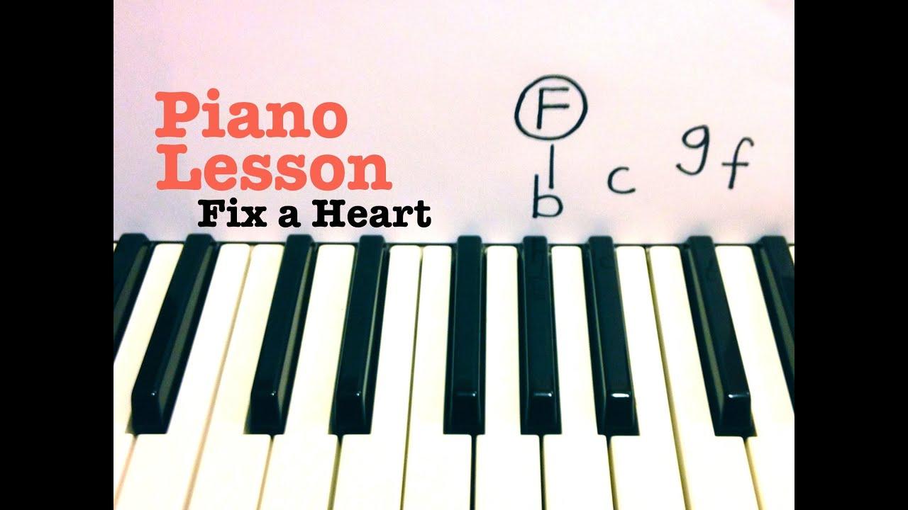 Fix a heart piano lesson demi lovato todd downing youtube fix a heart piano lesson demi lovato todd downing hexwebz Choice Image