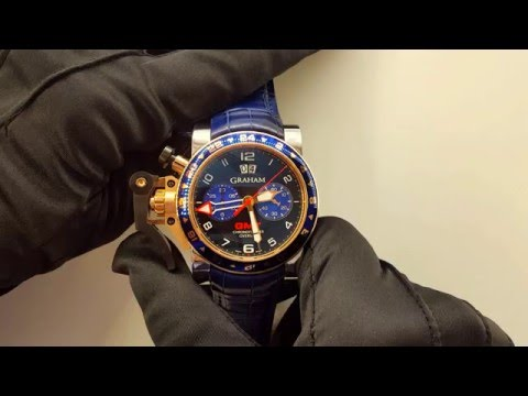 Graham Chronofighter Oversize GMT Blue Steel & Gold 2OVGG.B26A