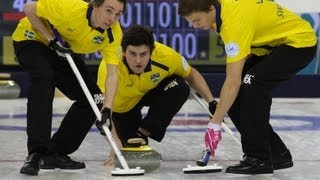 CURLING: World Junior Chps 2013 - Men Draw 6 SWE-CAN