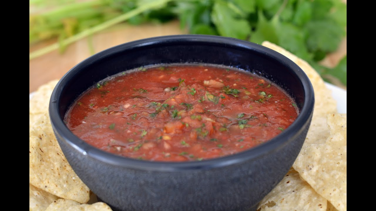 Restaurant Style Salsa Recipe How To Make Basic Salsa Sys Youtube