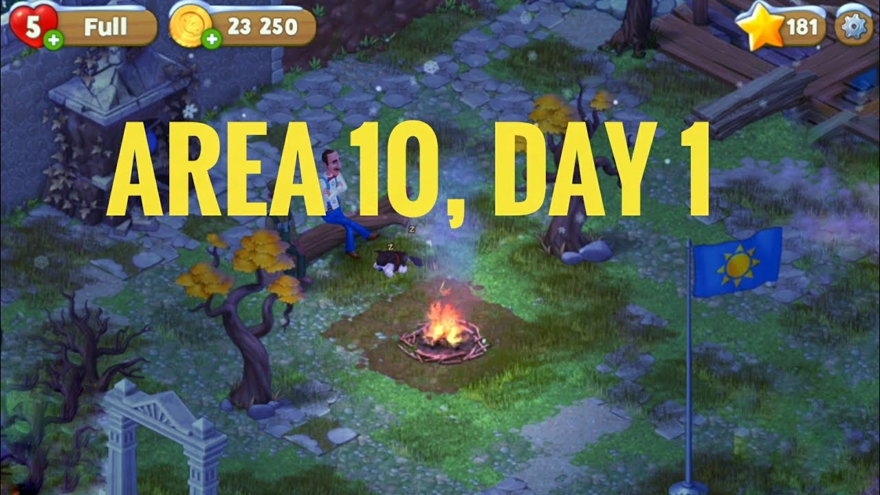 Gardenscapes Area 10, Day 1. Playrix Gardenscapes