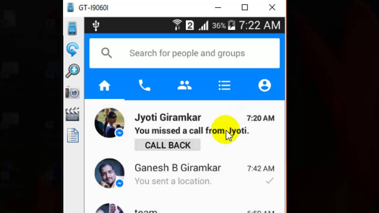 How to sync phone contacts in Facebook messenger android app