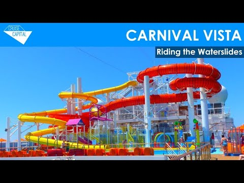 riding the water slides on carnival vista youtube