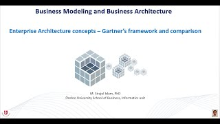 Enterprise Architecture concepts - Gartner's framework and comparisons