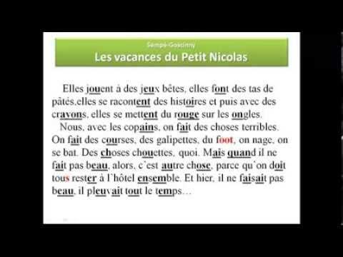 Французский язык. Уроки французского #8: Учимся читать. Le petit Nicolas