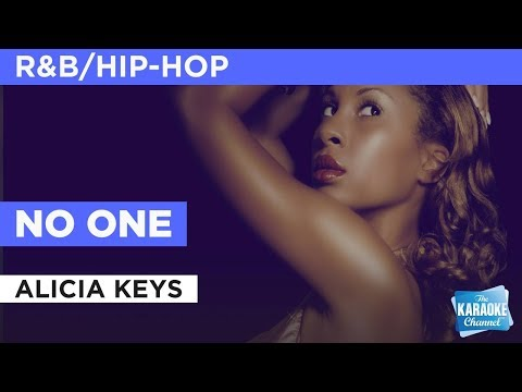 No One in the style of Alicia Keys | Karaoke with Lyrics