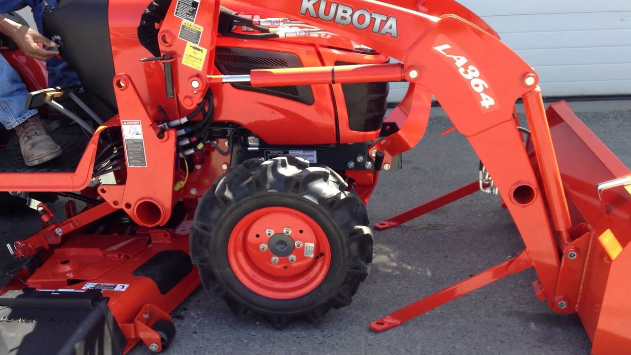 Kubota B2920hsd With Kubota La364 Loaer Removal Youtube