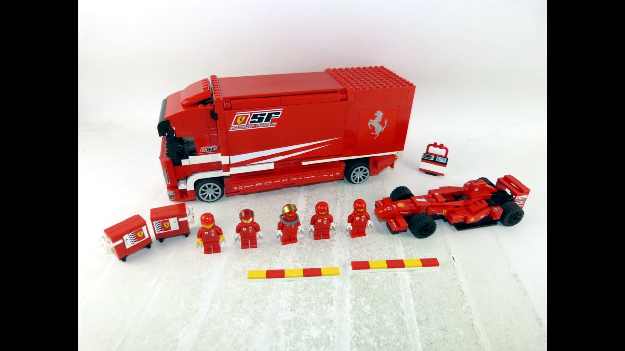 lego racers ferrari truck review set 8185 youtube. Black Bedroom Furniture Sets. Home Design Ideas
