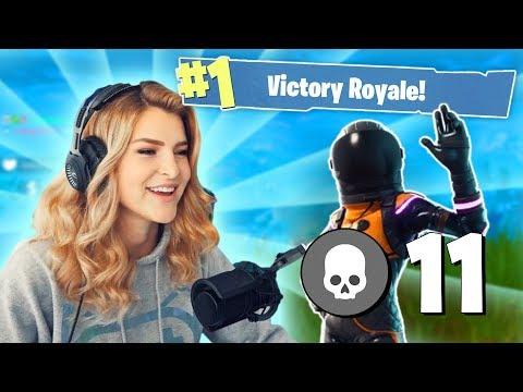 11 KILL SOLO WIN! (Fortnite: Battle Royale) | KittyPlays