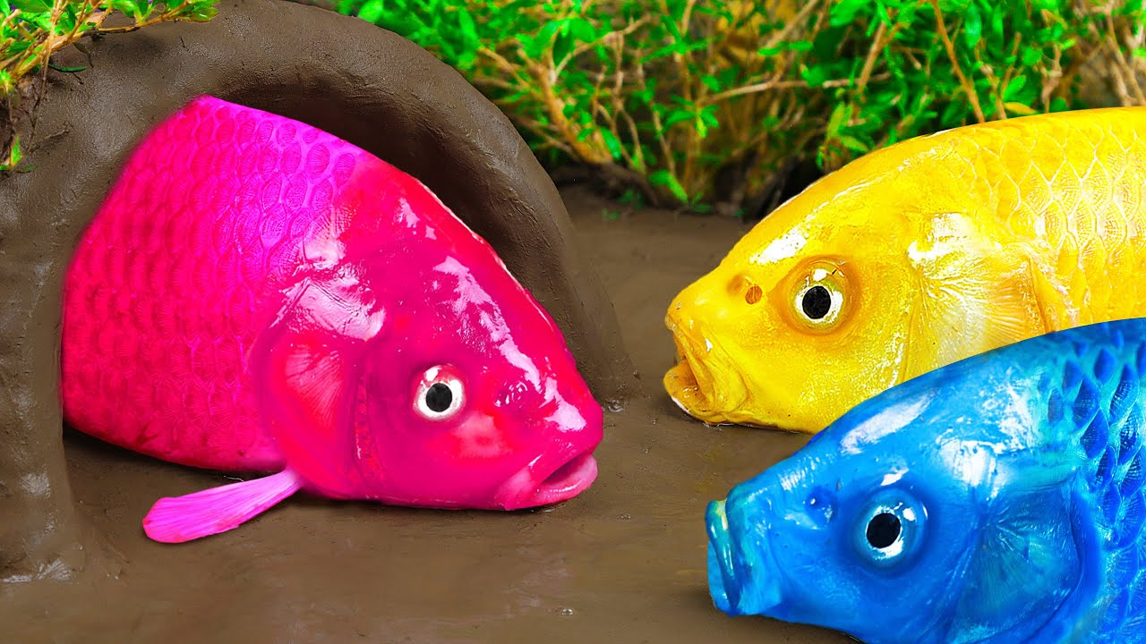 Stop Motion ASMR | Colorful Fish Princess Finds A Husband To Satisfying A Fun Cooking Experiment