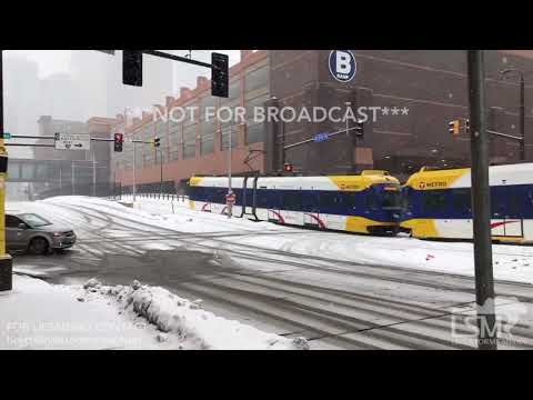 02-03-2018 Minneapolis, MN - Snowfall