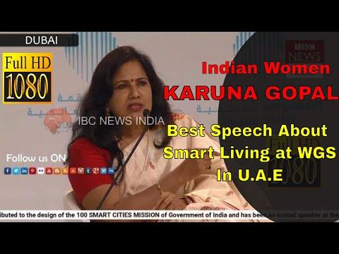 Indian Telugu  Women Karuna Gopal at World Government Summit At Dubai // IBC NEWS INDIA