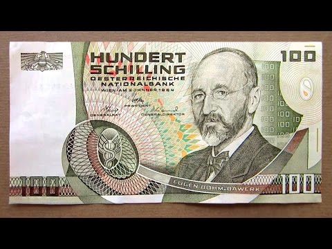 100 Austrian Schilling Banknote (Hundred Schilling Austria: 1984) Obverse & Reverse
