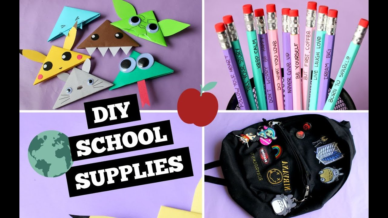 diy backpack origami bookmarks and pencils youtube