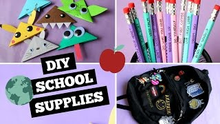 DIY BACKPACK, ORIGAMI BOOKMARKS AND PENCILS ❤