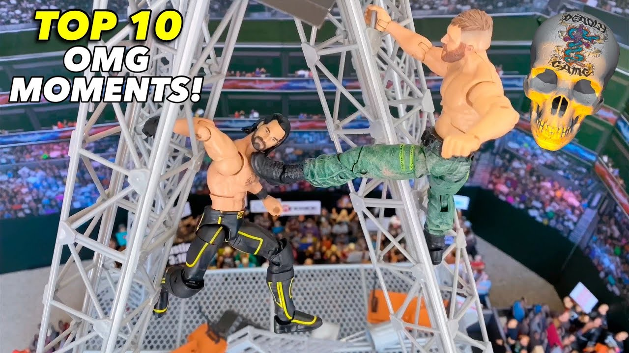 TOP 10 DEADLY GAMES OMG MOMENTS! WWE ACTION FIGURES!
