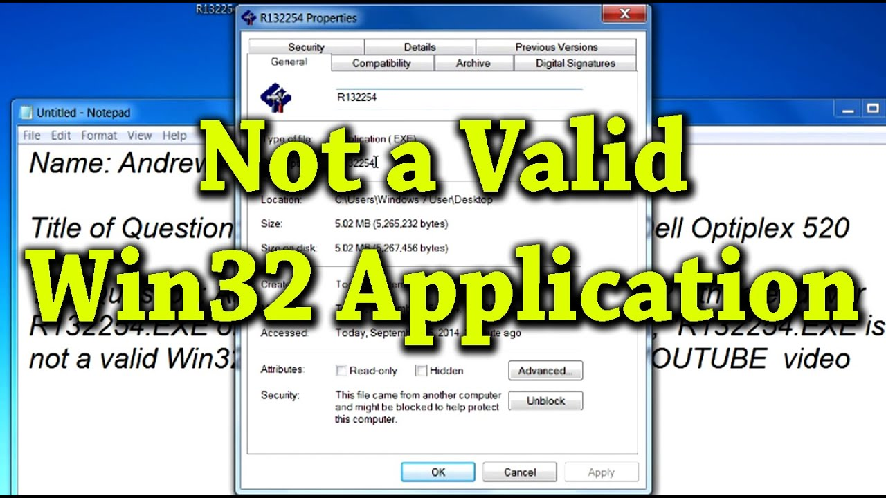 Causes And Fixes For Not A Valid Win32 Application