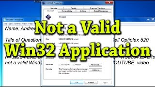 "Causes and Fixes for ""Not a Valid Win32 Application"" - Ask a Tech #20"