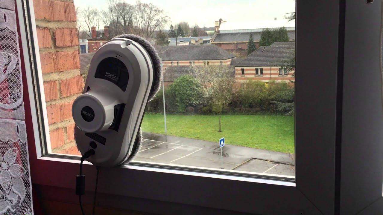 test hobot le robot laveur de vitre youtube. Black Bedroom Furniture Sets. Home Design Ideas