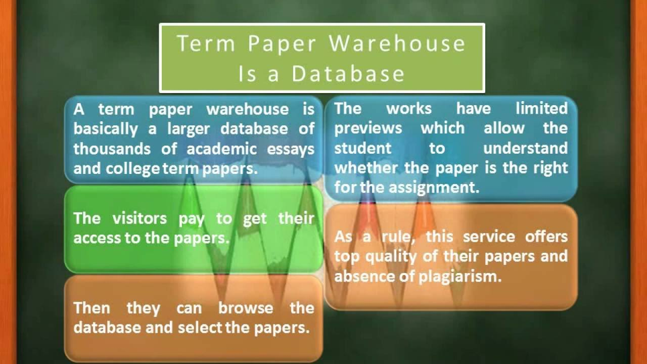 what is a term paper warehouse what is a term paper warehouse