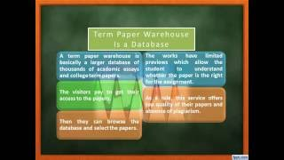 What is a Term Paper Warehouse(Informative video regarding buying your Term Paper at a Writing Warehouse. There are precautions which you should consider. More informatin you will find ..., 2016-06-20T10:14:50.000Z)