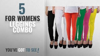 Top 10 For Womens Leggings Combo [2018]: Pixie Women's Cotton Lycra 4 Way Stretchable Churidar