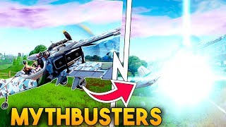 What Happens When You Go THROUGH A RIFT In An AIRPLANE!? | Fortnite Mythbusters!