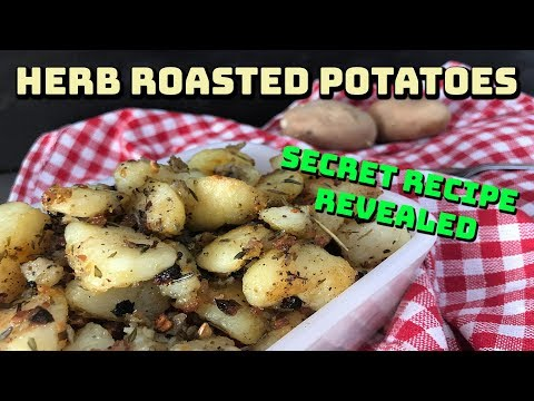 The SECRET to the PERFECT Roasted Potatoes | Herb Garlic Baked Potatoes | z foods