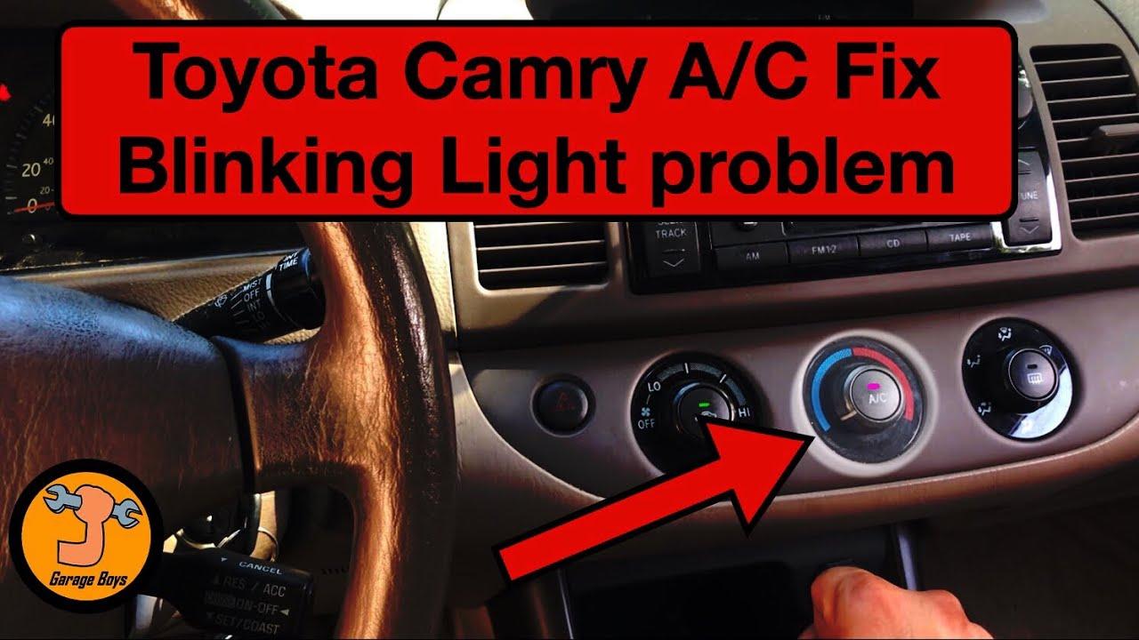 Toyota Ac Fix Light Blinking Fix Viral Youtube
