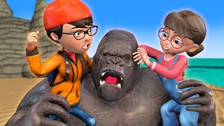 Scary teacher 3D - LOST IN SKULL ISLAND - Kong save Nick & Tani - BuzzStar Animation