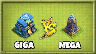 Giga Tesla Vs Mega Tesla | Ultimate Battle In Clash Of Clans 2018 | Th 12 Giga Tesla Vs Mega Tesla
