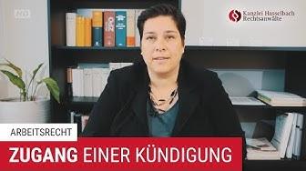 Zugang einer Kündigung im Arbeitsrecht - Kanzlei Hasselbach