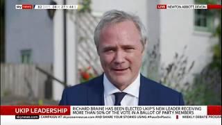 Richard Braine's first live interview as UKIP leader
