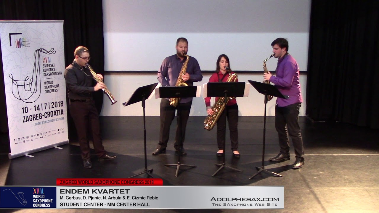 Melankolija Gegen Rakija by MArgareta Ferek Petric  Endem Kvartet   XVIII World Sax Congress 2018 #a