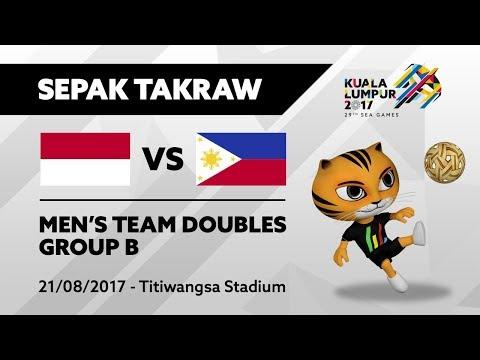 KL2017 29th SEA Games |  Men's Sepak Takraw DOUBLES - INA 🇮🇩 vs PHI 🇵🇭 | 21/08/2017