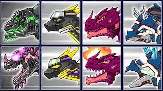Dino Robot Infinity Recolor: Terminator T-Rex & 3 Dinosaurs | Eftsei Gaming