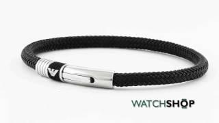 emporio armani jewellery men s stainless steel bracelet egs1624001190