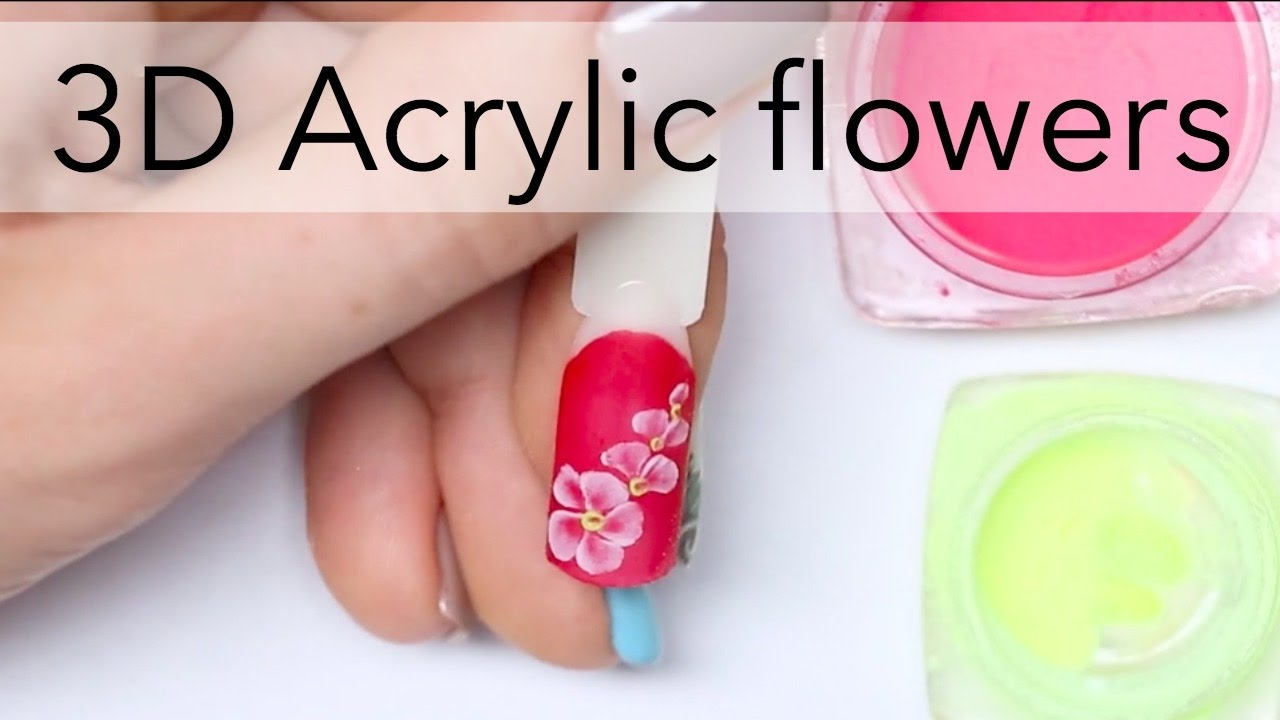 3D acrylic flowers design for beginners