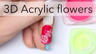 3D acrylic flowers design for beginners | Easy nail art ideas by nailcou